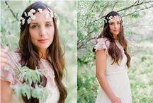 Flora Bond wedding accessories / Wedding head pieces, halos, crowns, feather fascinators, bridal hair accessories... http://florabond.com/ -- photography by jaclyndavis.com