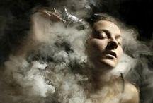 "Per fumum / Perfume   Pərˌfyo͞om   Per fumum. The word ""perfume"" derives from the Latin ""Per fumum"" (through smoke.)"