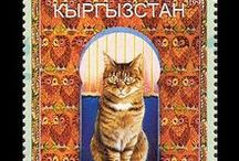 Cats cards and stamps