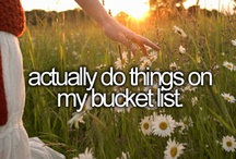 Bucket List - To Do