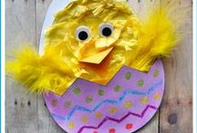 Easter / Easter snack and crafts for kids! Find Easter art ideas and egg decorating activities perfect for your young children.