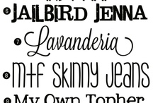 For the Love of Fonts / A collection of the best free and paid fonts for everyone ready to get a little more creative than Comic Sans.
