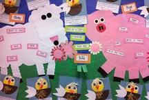 Farm Unit / Farm unit ideas for kindergarten and preschool classrooms! Farm crafts and free printables for farm learning.