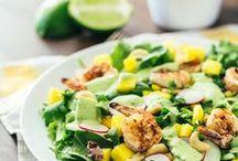 Tasty Healthy Salad Green Recipes / Greens | Kale | Quinoa | Super | Protein | Vegetarian | Gluten Free | Salads