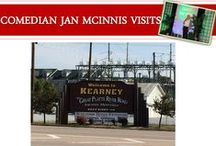 Kearney, Nebraska / I get to visit lots of big and small towns in my travels. . I really liked Kearney, NE - check out the video and these pictures! #Comedian #JanMcinnis visits #Kearney #TheWorkLady #Findingthefunnyfast