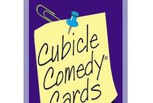 """Stocking Stuffer - Cubicle Comedy Playing Cards / Here's some ideas for unique stocking stuffers -- I'm featuring my Cubicle Comedy Playing Cards for your overworked co-workers. Filled with work humor from my comedy act, these playing cards (yes, there are 52 real cards you can use) they also include """"advice"""" for surviving the office. I'm also highlighting other unique stocking stuffers on this board too! #gifts #stockingstuffer"""