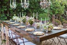 GATHER PEOPLE TOGETHER / Space for gathering family, friends neighbors at the table. Outdoors - gather - table - dine - conversation - friendship.