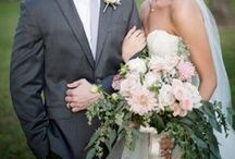 wedding flowers | romantic / Inspiration images for romantic wedding bouquets with soft colors & greenery.