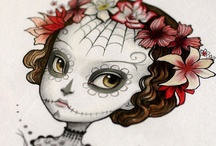 DAY OF THE DEAD / Celebration of Dia de Los Muertos and the colorful sugar skulls