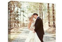 Wedding & Romance Photo Art Ideas / Great gift ideas and Home Decor Wall Art signs using your wedding photos and engagement pics on canvas, print, or custom pillows.  / by Geezees Canvas Art