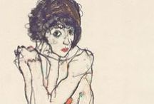 Egon Schiele / Egon Schiele (1890-1918) #EgonSchiele / by Ielle Laflamme