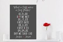 Cotton Wedding Anniversary Gifts  / Cotton Anniversary Gifts with canvas, prints, poly canvas. Great first and second wedding anniversary present.  / by Geezees Canvas Art