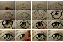 Draw/sketch tutorials/ideas / Where my love of pencil drawing and my inability to do so meet.  / by Kelly R.