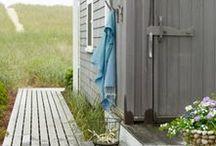 outdoor showers / by Kate Headley