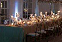 Wedding - Reception. / #roaring20s #gatsby #black #silver #gold #red #drama