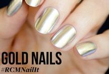 Gold Nails /   / by Red Carpet Manicure