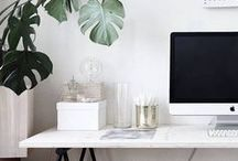 workspace / home office inspiration, especially for design-conscious WAHMs.