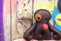 Valentine's Day Gifts / Monster Love Plush OOAK art dolls with heart