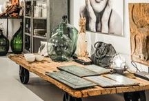 Vintage Industrial Home Decor / The vintage industrial look is raw, rustic, strong, and intriguing.  Everything I love about interesting spaces.