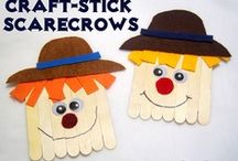 Fall / fun fall ideas - crafts, activities, games, food, treats, scarecrows, fall leaves, orange, white, brown, candy corn and more
