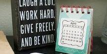 Mini Calendars / Creative ways to use SRM's clear mini calendar on cards, layouts and mini desk or wall calendars.
