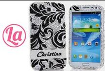 Personalized Name or Initials Bling Cases / Add your NAME or INITIALS to our Personalized Name Collection! Our Bling Cases are 100% Handcrafted with highest quality and can be made for all phones/devices! http://www.luxaddiction.com