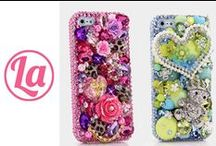 iPhone Cases / Our 3D iPhone Bling Cases are 100% Handcrafted. We can make high quality Bling case for any iPhone device.  Try us now and get yours. http://www.luxaddiction.com