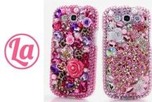 SAMSUNG Phone Cases / We design 3D Crystal Personalized 100% Handcrafted Bling cases for Samsung Galaxy S3, S4, S5, S6 Edge, Samsung Note 2, 3, 4, 5 and other Samsung devices. We can design bling cases for iPhone, Nokia, Black Berry, LG, HTC and Motorola. See our unique design here: http://www.luxaddiction.com/