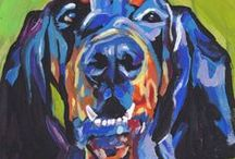 Black and Tan Coonhound - Art and Gifts