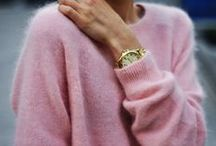 PINK / pink / pink outfit / pink wall / pink door / pink earrings / pink clothing / pink sweater / millennial pink / pink lipstick / pink shoes / pink purse / love pink / pink heels