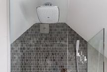 Loft Conversion Wetrooms / Bathrooms / Ideas for wetroom solutions in awkward spaces, sloping roofs.
