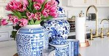 Blue + White / Blue and white decor / home decor / classic home decor / classic / classic style / Spode / ginger jar / decor inspo / decor inspiration / classic decor / home decorating / decorating / flowers / white and blue / living room / bedroom / coffee table / coffee table decor / preppy decor / preppy style