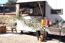 Laurel Traveler / The Laurel Traveler is a mobile refurbished 1964 Aloha Camper turned into a mobile bar, photo booth, DJ booth, cake station, bridal salon, groomsmen salon, coffee station, pop up shop!! Ready to hire at beelavish.com