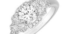 Engagement Rings by Frederic Sage / #engagementrings #yellowgold #whitegold #diamond
