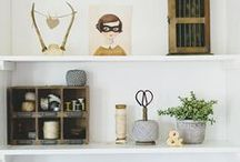 styling: bookcases + tables