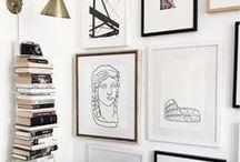 gallery wall, wall decor + layout ideas