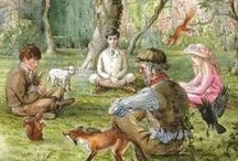 Tasha Tudor / Tasha Tudor (Aug. 28, 1915-June 18, 2008) was born Starling Burgess in Boston, Ma. Her father, W. Starling Burgess changed her name to Natasha. Tudor was after her mother's maiden name, Rosamund Tudor.~ Tasha Tudor is one of America's best-known and beloved illustrators. Her first little story, Pumpkin Moonshine, was published in 1938. She went on to  illustrate nearly one hundred books. She received many awards and honors, including Caldecott Honors for Mother Goose, and 1 is One.