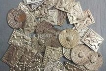 Silk Road Tribal | Tribal Costuming Components / Vintage and Contemporary tribal components from India and Central Asia available from Silk Road Tribal. Amulets, buttons, coins, metal fringe and more for use in tribal and tribal fusion belly dance costuming, jewelry making, and crafts. http://www.silkroadtribal.com