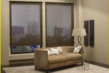 """Solar Shades / Solar Shades offer privacy and light control. Need to block out the sunlight? Have a """"media/TV"""" room and need to get rid of the glare? Here's your ticket! https://plus.google.com/+BellagioWindowFashionsToledo / by Window Treatments"""