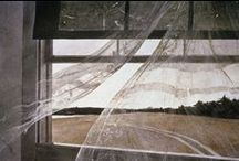 """Andrew Wyeth / Andrew Newell Wyeth (July 12, 1917 – January 16, 2009) was a visual artist, primarily a realist painter, working predominantly in a regionalist style. He was one of the best-known U.S. artists of the middle 20th century.  In his art, Wyeth's favorite subjects were the land and people around him, both in his hometown of Chadds Ford, Pennsylvania, and at his summer home in Cushing, Maine. Wyeth often noted: """"I paint my life."""""""