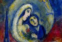 """Marc Chagall / Marc Zakharovich Chagall (6 July [O.S. 24 June] 1887 – 28 March 1985) was a Belarussian-Russian-French artist.[ Art critic Robert Hughes referred to Chagall as """"the quintessential Jewish artist of the twentieth century"""" (though Chagall saw his work as """"not the dream of one people but of all humanity""""). An early modernist, he was associated with several major artistic styles and created works in virtually every artistic medium.."""