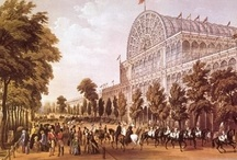 Crystal Palace, 1851/54 / The Crystal Palace, a wonder of glass and iron, was built for the Great Exhibition of the Industry of All Nations in Hyde Park, London, 1851. It lasted from June to October, then was taken down. It was reassembled bigger and better across the river on Sydenham Hill in June of 1854, where it stood until destroyed by fire in 1936.