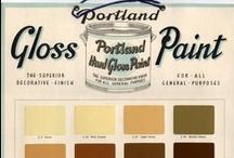 Vintage Paint Colour/Color Charts / Paint Colour Charts from the past :)