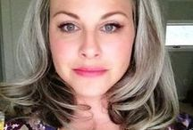 Going Gray, HOORAY! / Hi! I'm Lauren. I've been going gray since my mid-20's, and now at 36, I am the proud owner of a head full of silver! Through my blog How Bourgeois,  I like too spread the word to other women that gray can be OK! It really can! If you're looking for tips & tricks to growing out your gray in the easiest way possible, and some positive inspiration and cheer along the way, stop on by this board or my website. Thanks silver sisters!!!! :)  <3