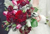 {Bouquets} Red & Maroon / floral wedding inspiration