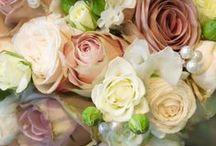 {Bouquets} DuskyPink, Champagne, Vintage, Beige / floral wedding inspiration