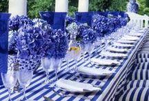 {Centrepieces} Blue