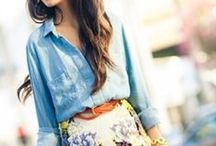 Chambray and Military style Trends / How to style chambray and military style trends