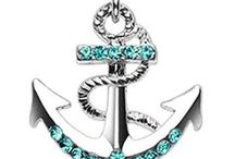 Anchor Belly Rings / Wicked Anchors and Nautical Themed Belly Rings
