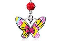 Butterfly Belly Rings / Wicked Belly Rings with Butterflies